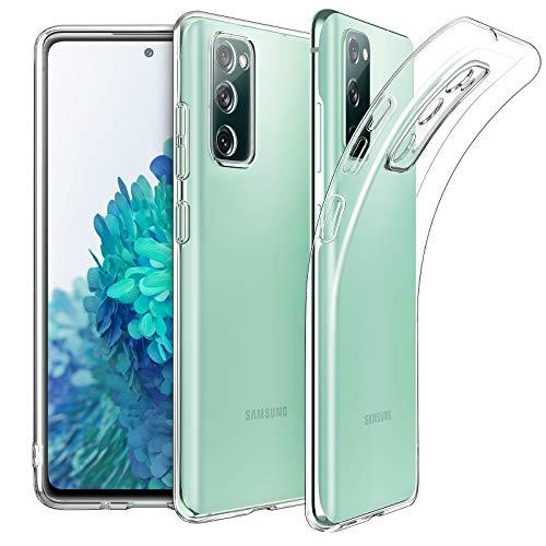EasyAcc Custodia Compatibile con Samsung Galaxy S20 FE, Morbido TPU Cover Cristallo limpido Trasparente Slim Anti Scivolo Protezione Posteriore Case Antiurto Con Protezione Della Fotocamera