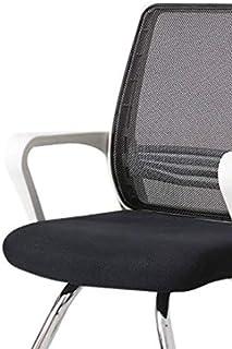 MIISLAIN Silla de oficina o estudio, respaldo alto ergonómico con soporte lumbar para reposacabezas y reposabrazos ajustable, respaldo alto de malla, color negro