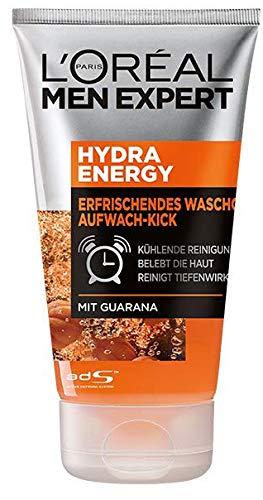 L'Oréal Men Expert Hydra Energy Reinigungs-/seifenfreies Waschgel, mit Vitamin C, Porentiefe Reinigung (1 x 100 ml)