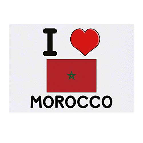 Grand 'I Love Morocco' Tatouages temporaires (TO00000787)