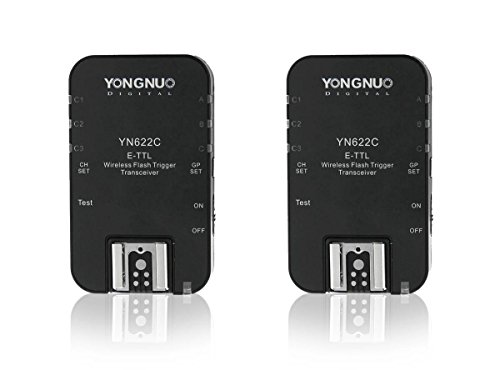 yongnuo YN-622C Wireless-TTL-Blitzauslöser für Canon Wireless Transceiver Serie EX II Blitz, 600EX (