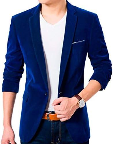 Royal blue velvet blazer mens _image2