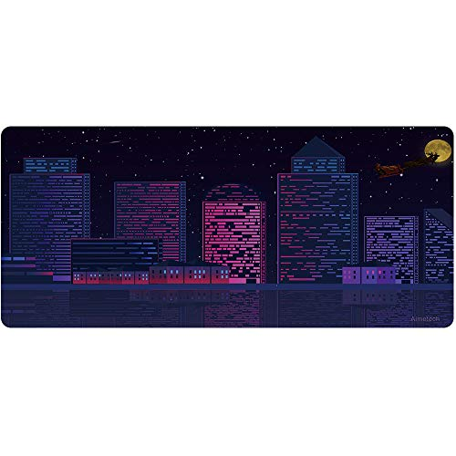 Aimetech Large Mouse Pad Gaming & Professional Computer Extra Large Mouse Pad/Mat 35.4x15.7 inches (90X40 zisecityA6)