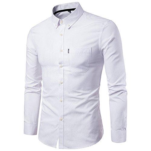 Rawdah_Camisas De Hombre Manga Larga Camisas De Hombre De Vestir Camis