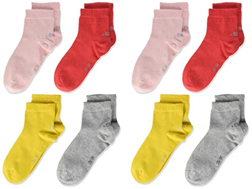 s.Oliver Socks Mädchen S21010 Socken, Rot (Hibiskus 3214), 39 (Herstellergröße: 39/42) (9er Pack)