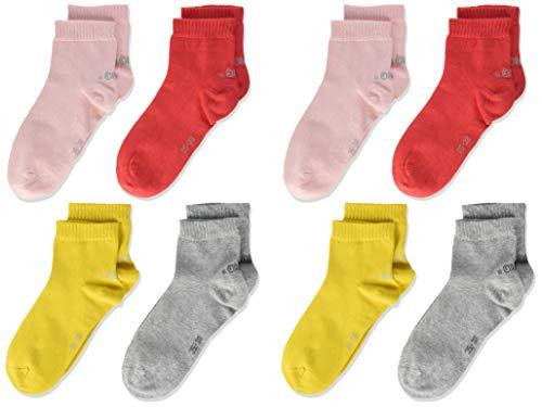 s.Oliver Socks Mädchen S21010 Socken, Rot (Hibiskus 3214), 31-34 (Herstellergröße: 31/34) (9er Pack)