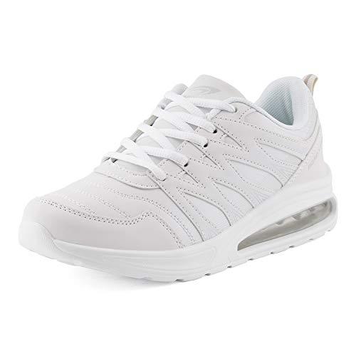 Fusskleidung Herren Damen Sportschuhe Sneaker Dämpfung Laufschuhe Übergröße Neon Jogging Gym Unisex Weiß EU 39