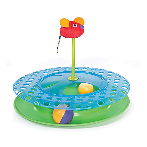 Petstages Jouet pour chat Cheese Chase - circuit - multicolore - taille unique