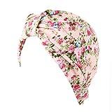 besbomig Pre Atado Chemo Headwear Moda Envoltura De La Cabeza - Floral Impresión Turbante Sombreros Quimioterapia Pelucas por Mujer