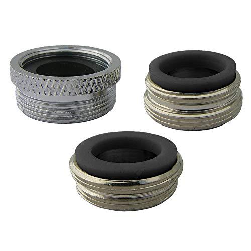 Larsen Supply CO, INC. 09-1661NL No Lead, Three Piece Faucet Adapter Kit, Chrome