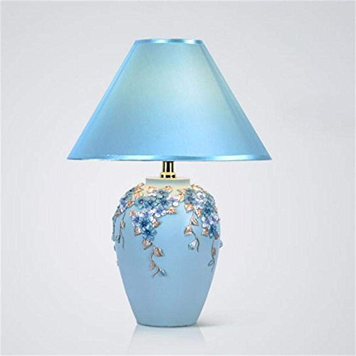DSJ bureaulamp nieuw Europees huwelijkscadeau warme decoratieve bloem geluk tafellamp, slaapkamer bedlampje