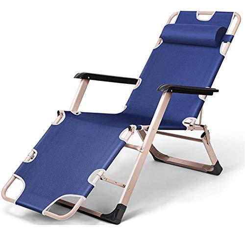 YASEking Ocio al Aire Libre Cama Plegable Sillón Sillón Oficina Reclinable Oficina Interior Break Bed Sap Silla Camping Beach Chaise (Color : Oxford Cloth)