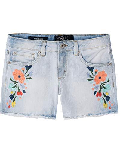 Lucky Brand - Pantalones Cortos de Mezclilla para niña, Penny Bella Wash, 14 Años