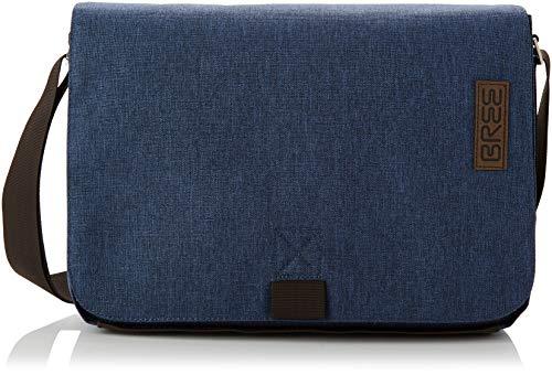 BREE Collection Unisex-Erwachsene Punch Style 62, SHO. B. S19 Umhängetasche, Blau (Jeans Denim), 8x24x40 cm