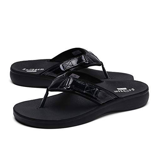 SOLLBEAM Women Original Orthotic Comfort Thong Style Flip Flops Sandals With Arch Support Heel Cup