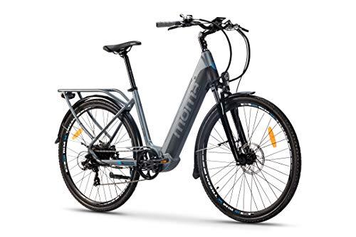 Moma bikes Ebike 28.2 Hydraulic, Bicicletta Elettrica VAE di Passeggio, E-28,Shimano Altus 7V, Bat. Integrato Ion Litio 48V 13Ah Unisex-Adult, Grigio, Unic Size
