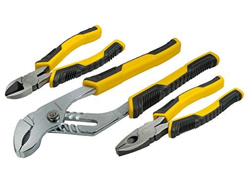 STANLEY STHT0-74471 - Juego de Alicates Control Grip, incluye alicate universal, corte...
