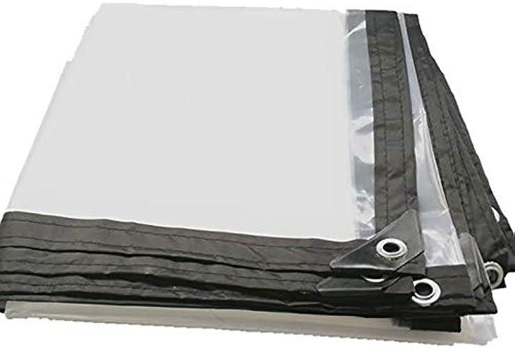 YANG HONG SHOP JL YH Bache Imperméable Extérieure Transparent Rempli De Tissu D'isolation De Bache en Plastique Imperméable à l'eau De Tissu 150g   M2 A+ (Taille   3x1.5m)