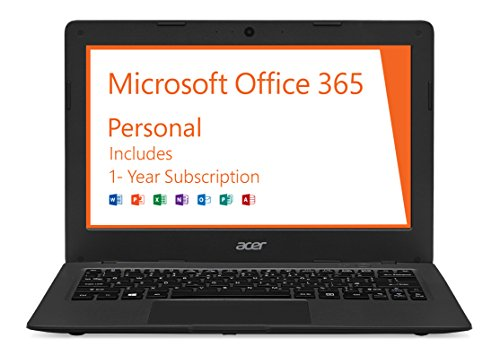 Acer Aspire One Cloudbook, 11-Inch HD, 32GB, Windows 10, Gray (AO1-131-C9PM) includes Office 365 Personal – 1 year Discontinued by Manufacturer