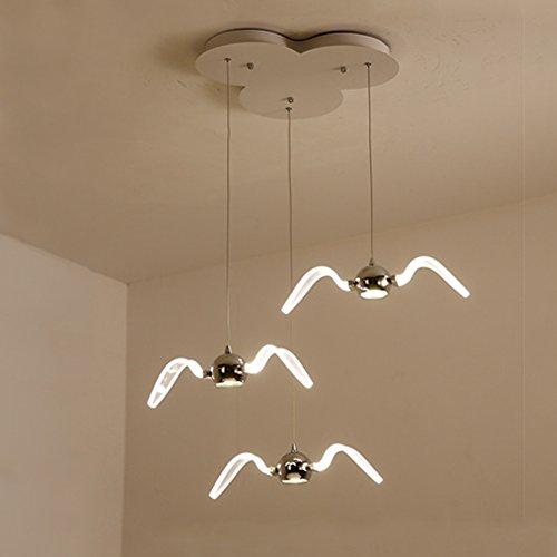 OOFAY LED Lustre Seagull Creative Moderne Simple Design Art Bar Restaurant Lumière