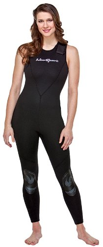 NeoSport Wetsuits Women's Premium Neoprene 7mm Jane,All Black, 14 - Diving, Snorkeling & Wakeboarding
