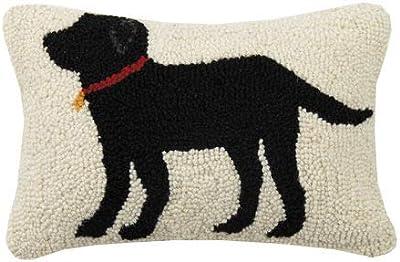 Labrador Retriever Log Cabin Yellow Labrador Retriever Dog 16 X 16 Wool Hooked Throw Pillow Collectables Ubi Uz