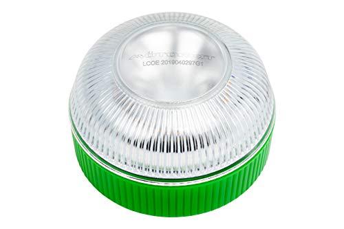 Motorkit Luz magnética LED de Emergencia homologada (V16) de Alta luminancia, sustituye a los triangulos, Apto para Uso con Lluvia y Nieve. para Coches y Motocicletas. Recomendado por la DGT.