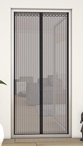 hecht internationaal 101410205-VH magnetisch lamellengordijn 100x220 cm in zwart met rand