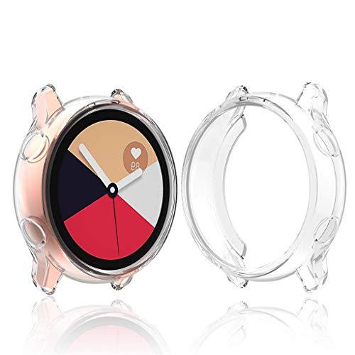 für Samsung Galaxy Watch Active 40m Schutzhülle,TPU Case Schutz Hülle Soft Kratzfest Schutzhülle Schale Hülle für Samsung Galaxy Watch Case Fall Abdeckung (Weiß)