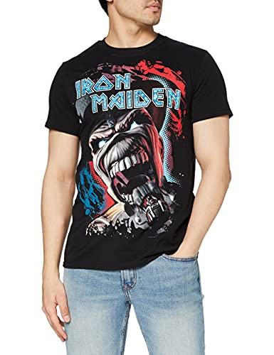 Iron Maiden Wildest Dream Vortex Camiseta Manga Corta, Negro, M para Hombre