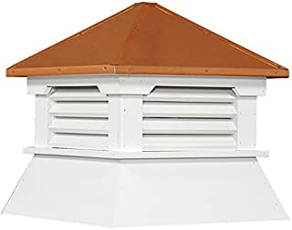 """Cupola 16"""" Shed Cupola Vinyl White Copper Cupola Hip Roof"""