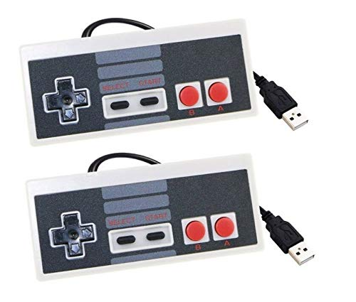 Lyyes Classic NES USB Controller Retro Gamepad Controller for Windows PC Mac Linux Retro Pie NES Emulators (2 Pack)