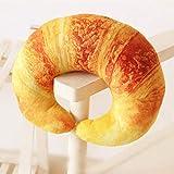 BAONZEN Kreative Brot Croissant Nackenkissen U-förmigen Plüsch Kissen Kissen Simulation Brot...