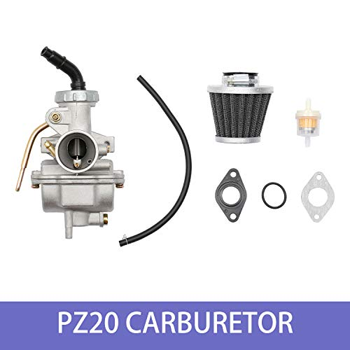 PZ20 Carburetor with Air Filter Gaskets for Kazuma Baja 50cc 70cc 90cc 110cc 125cc TaoTao 110B NST SunL Chinese Quad 4 Stroke ATV 4 Wheeler Go Kart Dirt Bike Honda CRF50F XL75 CRF80F XR50R