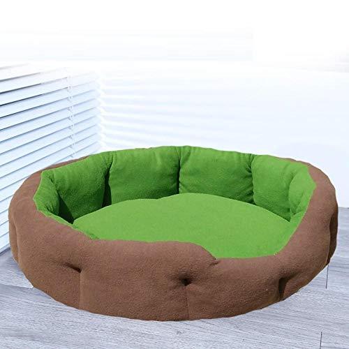 Puppy's nest, levert slaapmat, hondenmand, universele vier seizoenen, Chihuahua kleine hond, (blauw + bruin)-Groen afneembaar_S-small geen cadeau