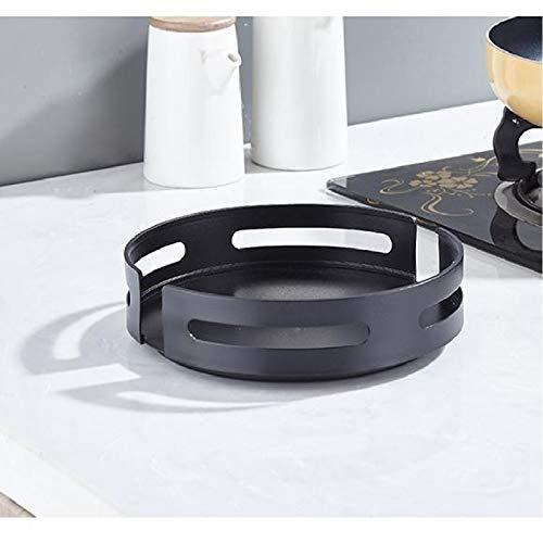 Stilvoller Drehbares Gewrzregal aus Aluminium Praktisches Küchenschrank Organizer Lazy Susan Gewrzhalter fr Gewrze Gewrzflaschen und Zutaten Glser Kochen(schwarz)