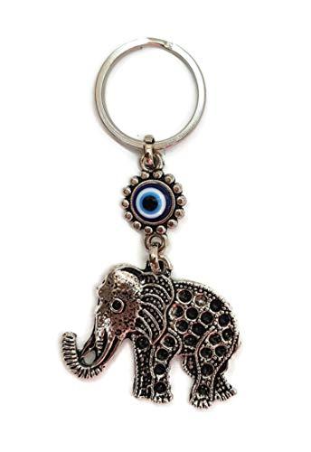 Mystic Jewels - Llavero Ojo Turco Elefante - Amuleto Buene Suerte - Good Luck Keychain - para Regalar