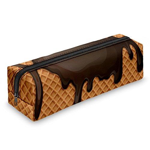 Estuche Choco Sauce Waffle estuche escolar–Estuche escolar Bolígrafos estuche caja lápices Escuela Maquillaje Pinceles Box