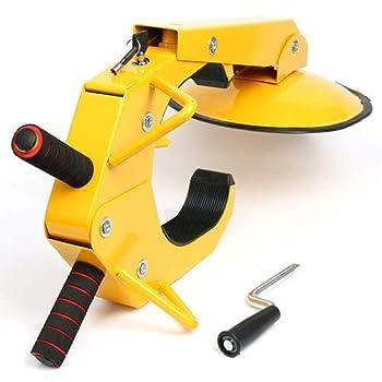 YaeTek Wheel Lock Clamp Boot Tire Claw Auto Car Anti Theft Lock - Heavy Duty Parking Car Tire Claw ATV RV Boot Wheel Clamp Boat Truck Caravan Trailer Lock