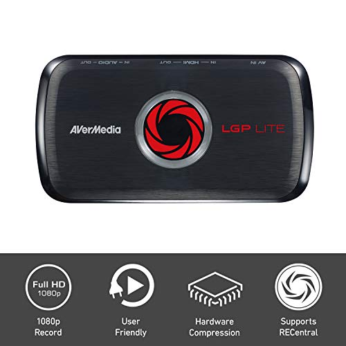 AVerMedia GL310 Live Gamer Portable Lite - Capturadora, YouTube y Twitch, HD 1080p, codificador de hardware, streaming de juegos de juegos y captura de juegos para PS4, Nintendo Switch