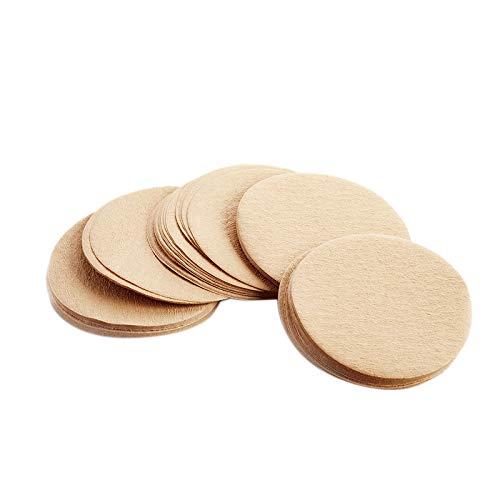 Moligh doll 500 StüCk Einweg-Ersatz-Kaffeefilter Aus Ungebleichtem Papier - Passend für Aerobie -Kaffee- und Espressomaschinen (60 Mm)
