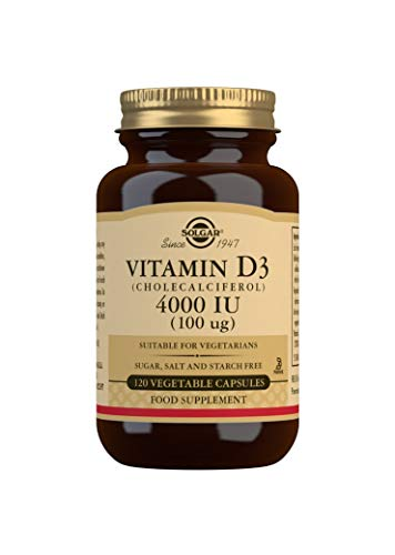 Solgar Vitamin D3 (Cholecalciferol) 4000 IU (100 µg) Vegetable Capsules - Pack of 120