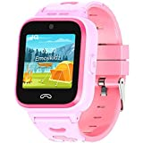 4G Kids Smartwatch 2020 Model + SIM Card Included GPS Locator 2-Way Face to Face Call Voice & Video Camera SOS Alarm Remote Monitoring Worldwide Coverage in Select Countries Age 4 Years + Pink