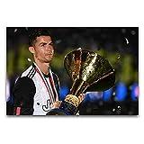 Italia ganó el campeonato, el campeonato de la Liga de Fútbol, arte moderno, decoración de pared, sala de estar, dormitorio, gimnasio, 30 x 45 cm