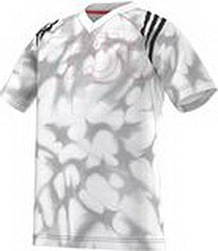 adidas T-Shirt Manica Corta YB F50 PES Tee Bianco/Grigio 6 Anni (116 cm)