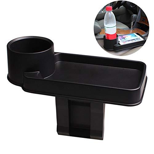 YSHtanj Auto Opslag Rack Interieur Opslag Rack Multi-Functie Drank Vervoer Opslag Auto Gap Duurzame Plastic Box Rack Houder - Zwart