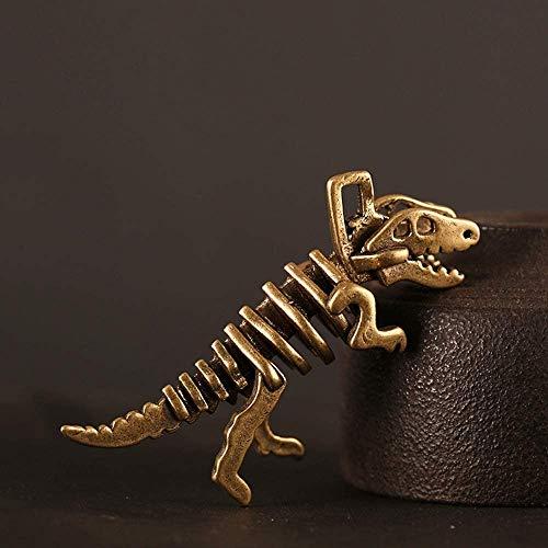 QJL_ANA Personalidad Creativa, latón, Retro, Viejo, Tyrannosaurus, Ornamento, Juego, Colgante, Llavero, Ornamento, Colgante de Cobre Puro