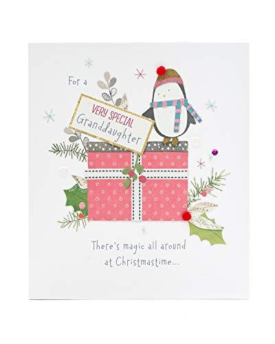 Granddaughter Christmas Card - Christmas Card For Granddaughter - Penguins Christmas Card Granddaughter - Granddaughter Xmas Card - Christmas Gifts for Granddaughter