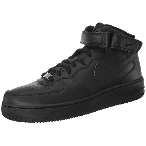 NIKE Herren Air Force 1 Mid '07 High-Top Sneaker, schwarz, 44 EU