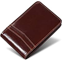 Swallowmall Bifold Leather RFID Blocking Slim Wallet for Men